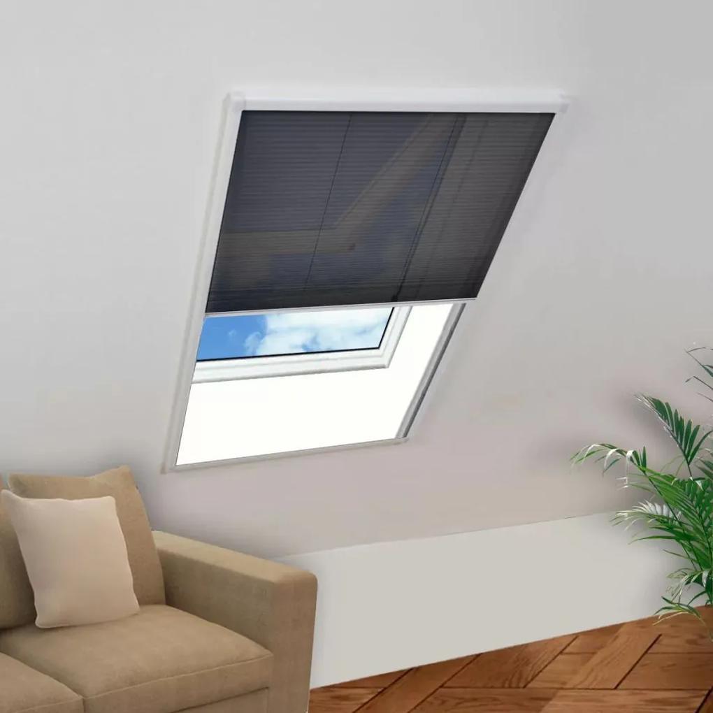vidaXL Plisovaná okenná sieťka proti hmyzu 80x160 cm