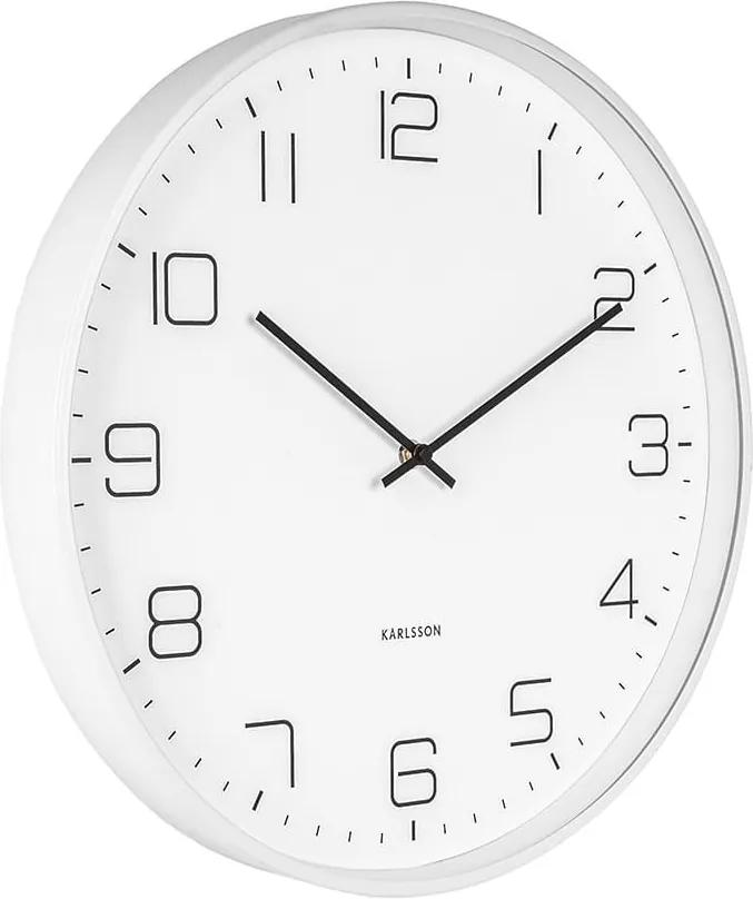 KARLSSON Nástenné hodiny Lofty Iron matná biela