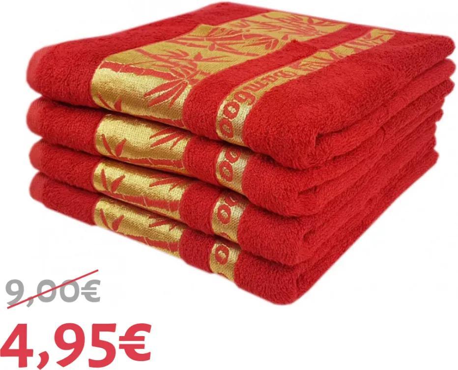 Uterák bambo červený 50x90 cm EMI