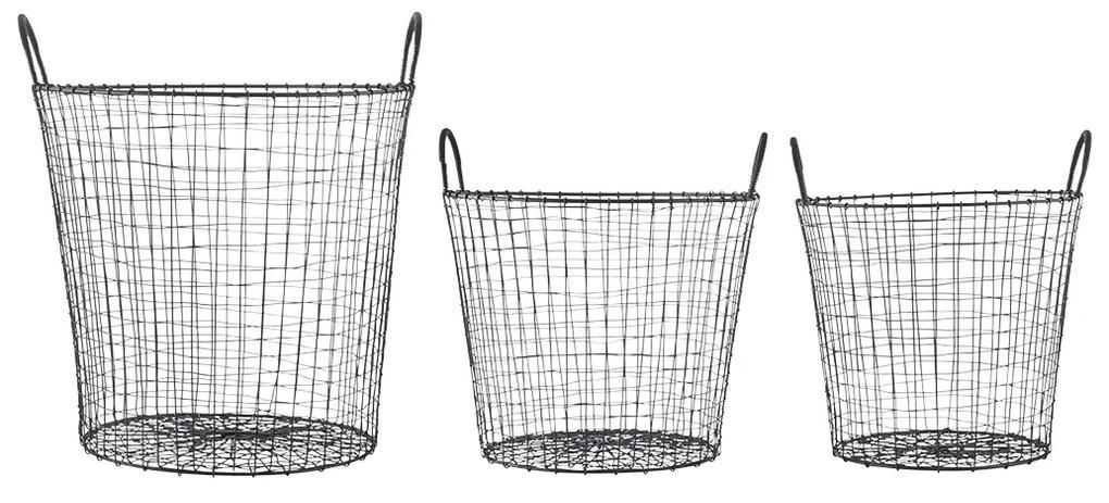 Koše Wire – set 3 kusov