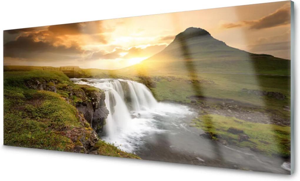 Plexisklo obraz Hory vodopád příroda