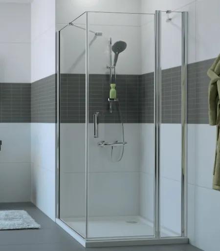 Bočná stena Huppe pevná 70 cm, sklo číre, chróm profil, univerzálny C23606.069.322