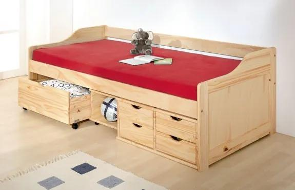 MAXMAX Detská posteľ z masívu so zásuvkami 200x90cm - MAXIMUS 200x90 pre všetkých ÁNO