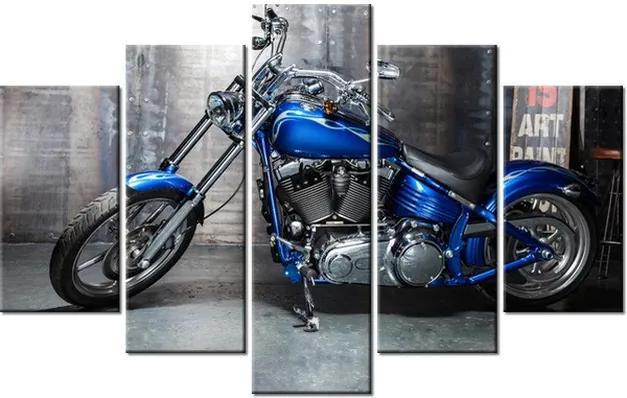 Tlačený obraz Vyleštená motorka 100x63cm 2379A_5D