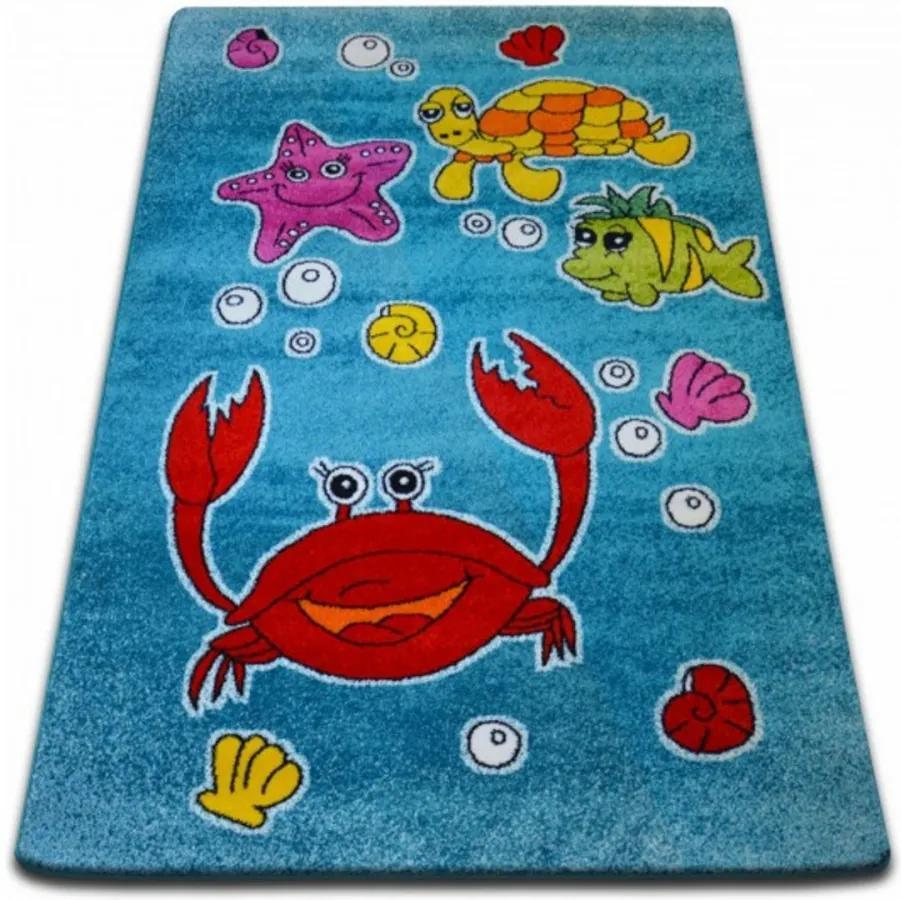 Detský kusový koberec Pod vodou modrý, Velikosti 240x330cm