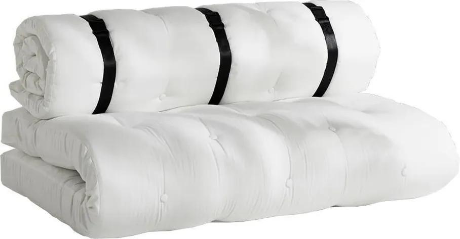 Biela rozkladacia pohovka vhodná do exteriéru Karup Design Design OUT™ Buckle Up White