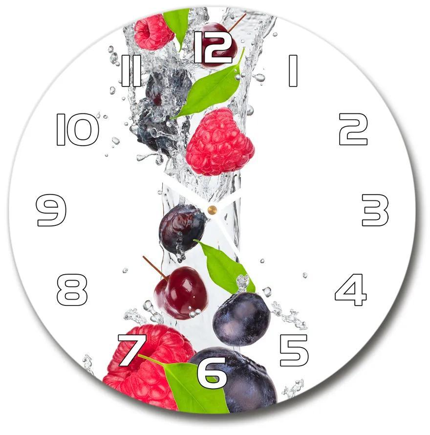 Sklenené hodiny na stenu Ovocie a voda pl_zso_30_f_54937958