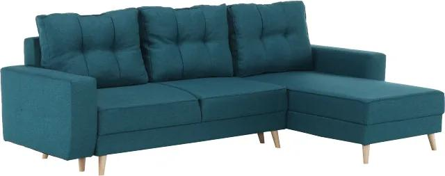 Tyrkysová sedacia súprava VINCENT ROH, univerzálna