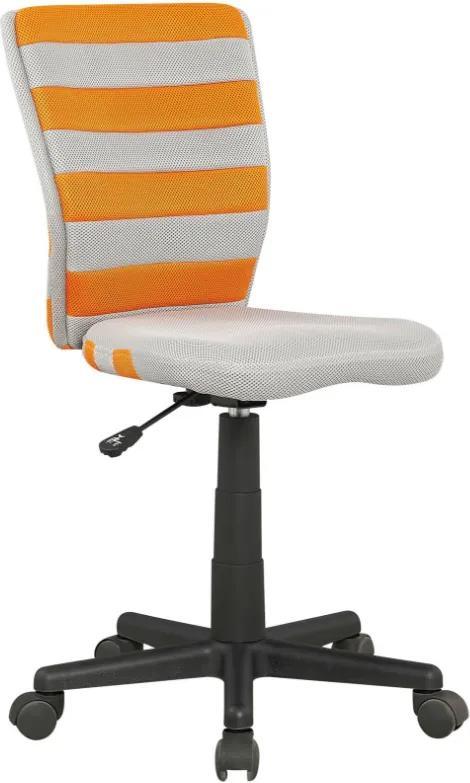 MAXMAX Detská otočná stolička FUEGO oranžovo-šedý