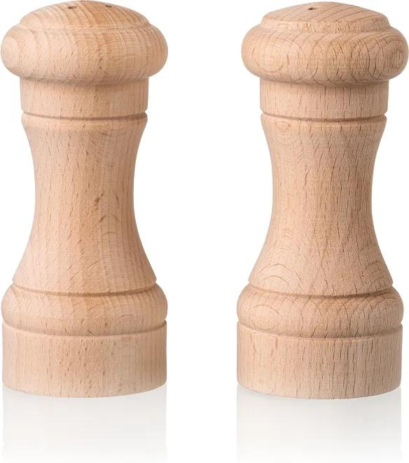 Drevobox Drevená soľnička a korenička - 10 cm