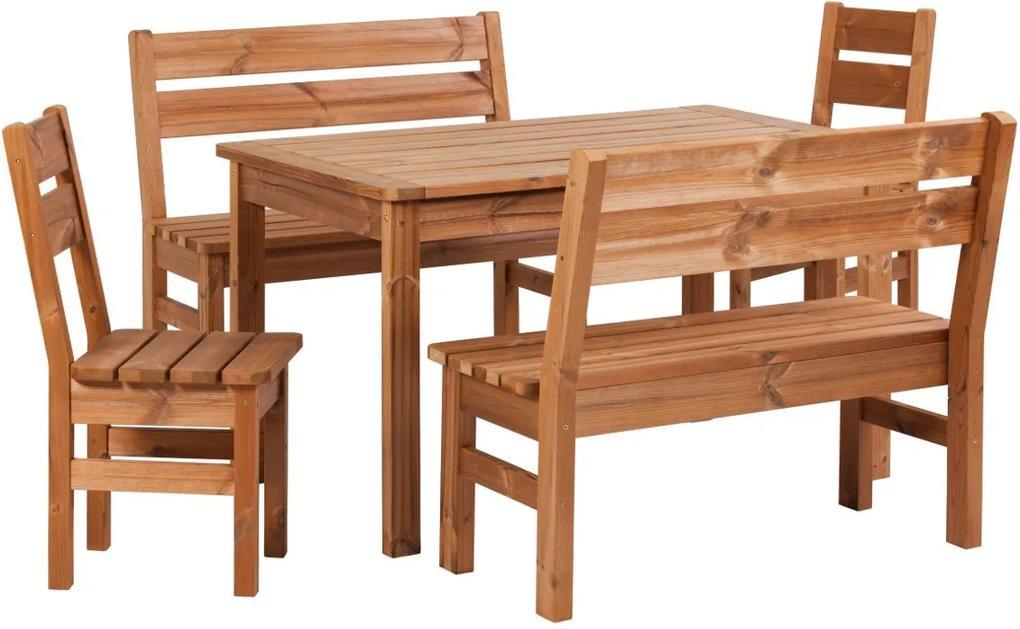 Záhradný drevený set PROWOOD z ThermoWood - SET M3 - Set + dodanie náteru v odtieni GR. GREY + PCD 91