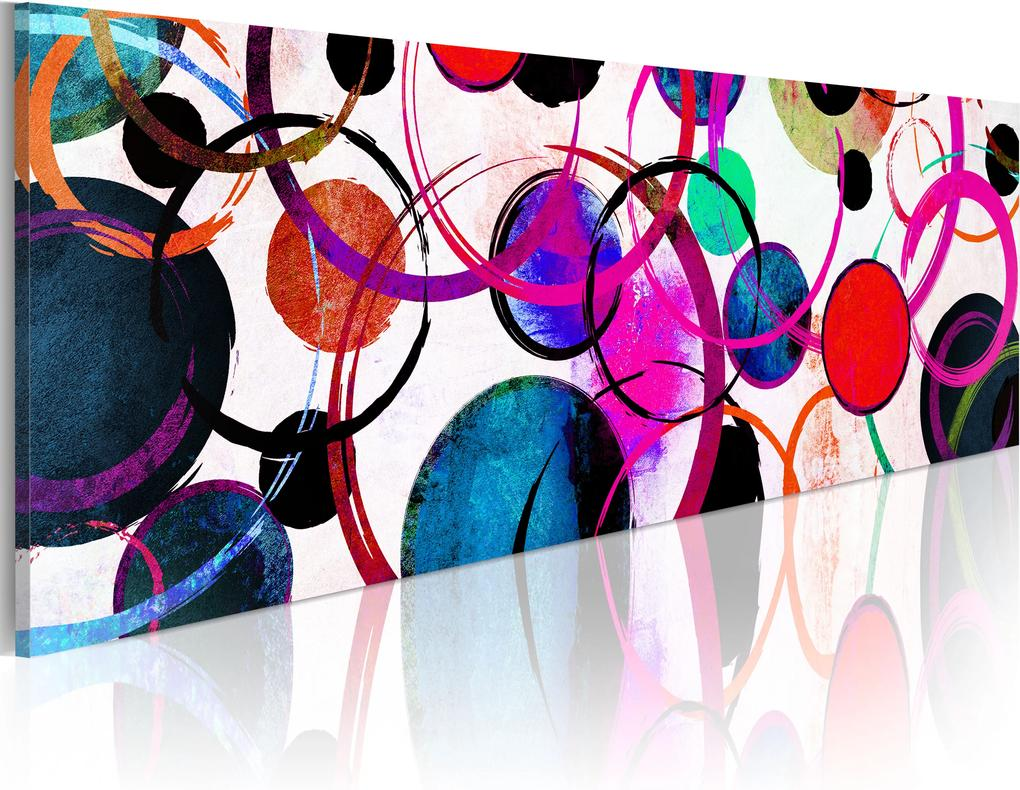 Obraz - Colourful Circle 135x45
