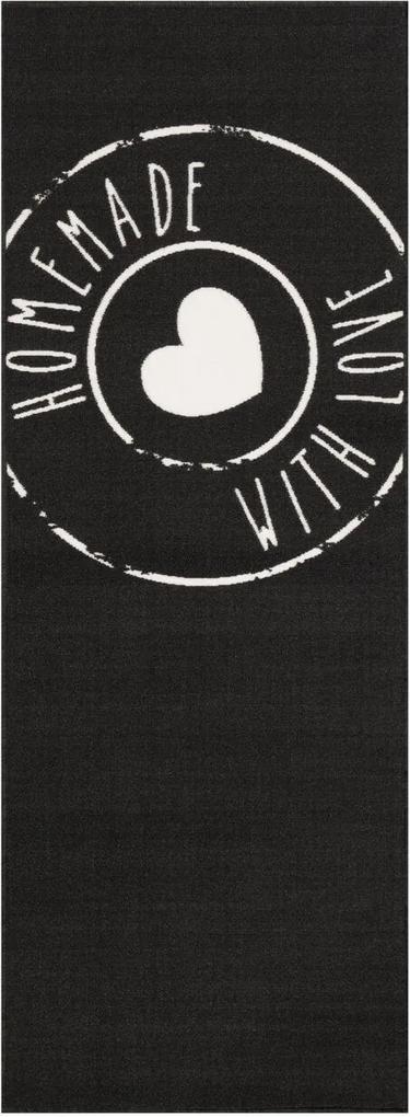 Zala Living - Hanse Home koberce Běhoun Homemade with Love 67x180 Vibe 103488 black - 67x180 cm
