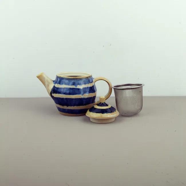 MIJ Čajová kanvica so sitkom Tea Cup modro-béžová 300 ml
