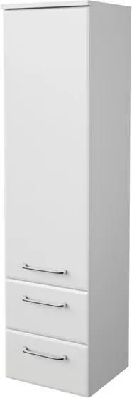 Sconto Polovysoká kúpelňová skrinka FILO biela vysoký lesk