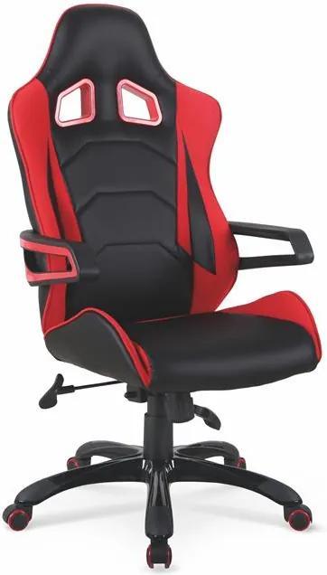 MAXMAX Herný stoličky DORA čierno / červená