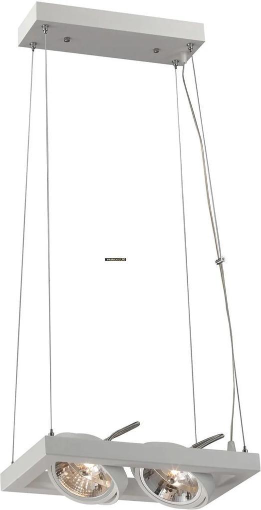Pinto 2xAR111 biely 353-190 CreeLamp lampa oprawa wisząca biela do led .