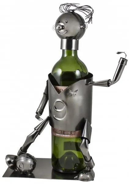 Kovový stojan na víno Futbalista W147