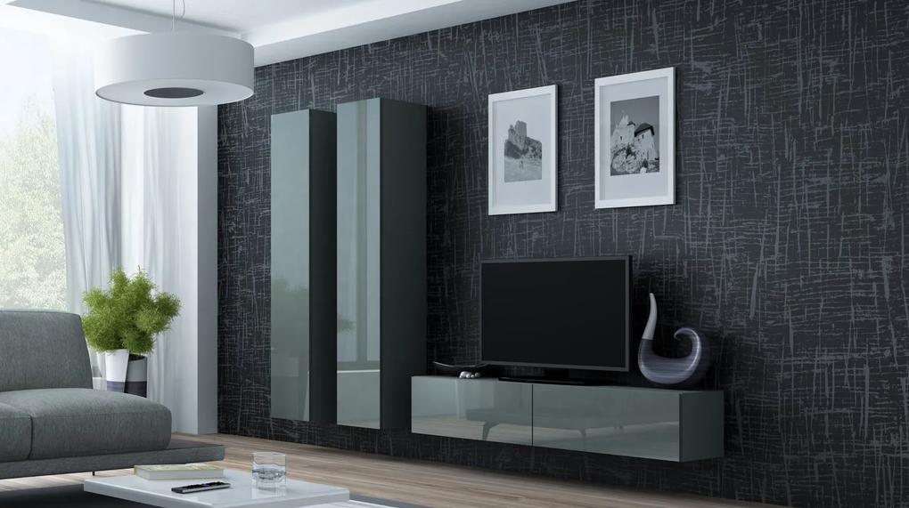 CAMA MEBLE Obývacia stena VIGO 9 Farba: sivá