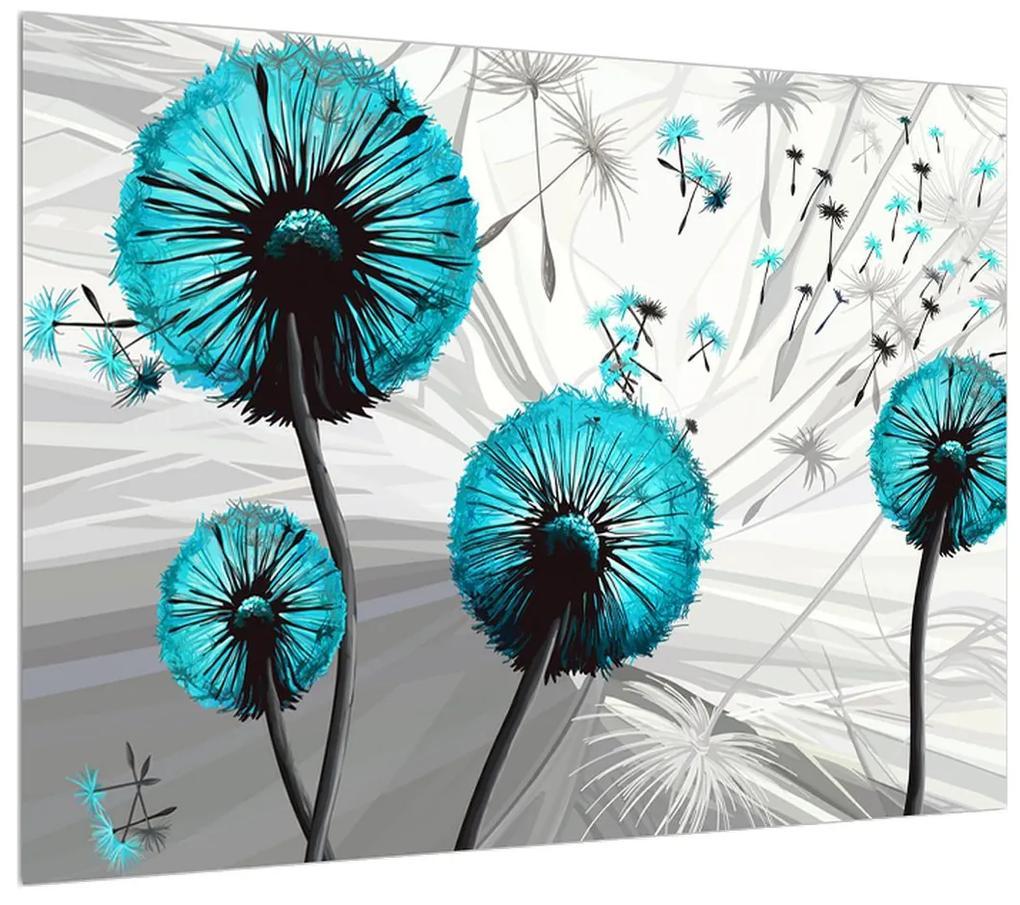 Moderný obraz modrých púpav (K015031K7050)