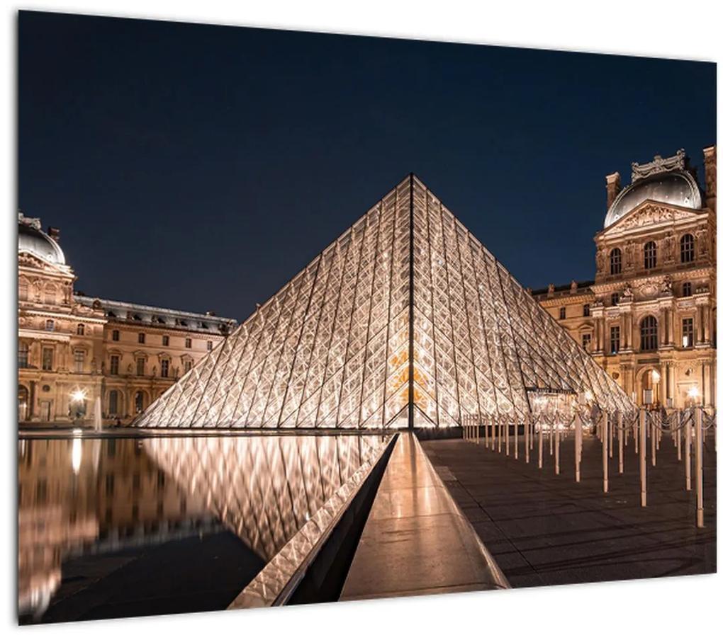 Obraz - Louvre v noci (70x50 cm), 40 ďalších rozmerov