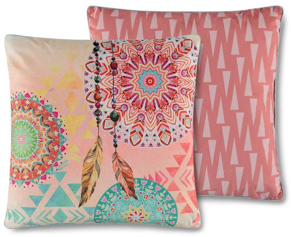 Home ružové dekoratívny vankúš s výplňou Vilastre 48x48