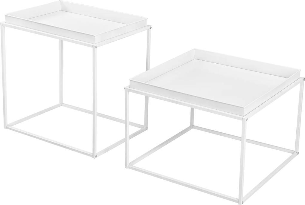 [en.casa]® Sada servírovacích stolíkov AAMR-7811