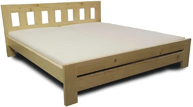 Drevená manželská posteľ KUBA - buk