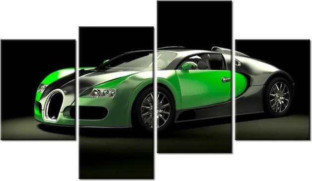 Tlačený obraz Zelené Bugatti Veyron 120x70cm 2377A_4AA