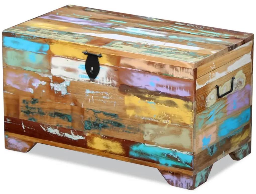 vidaXL Úložná truhlica z masívneho recyklovaného dreva