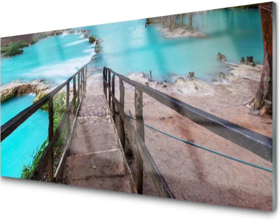 Obraz plexi Schody Jazero Architektúra