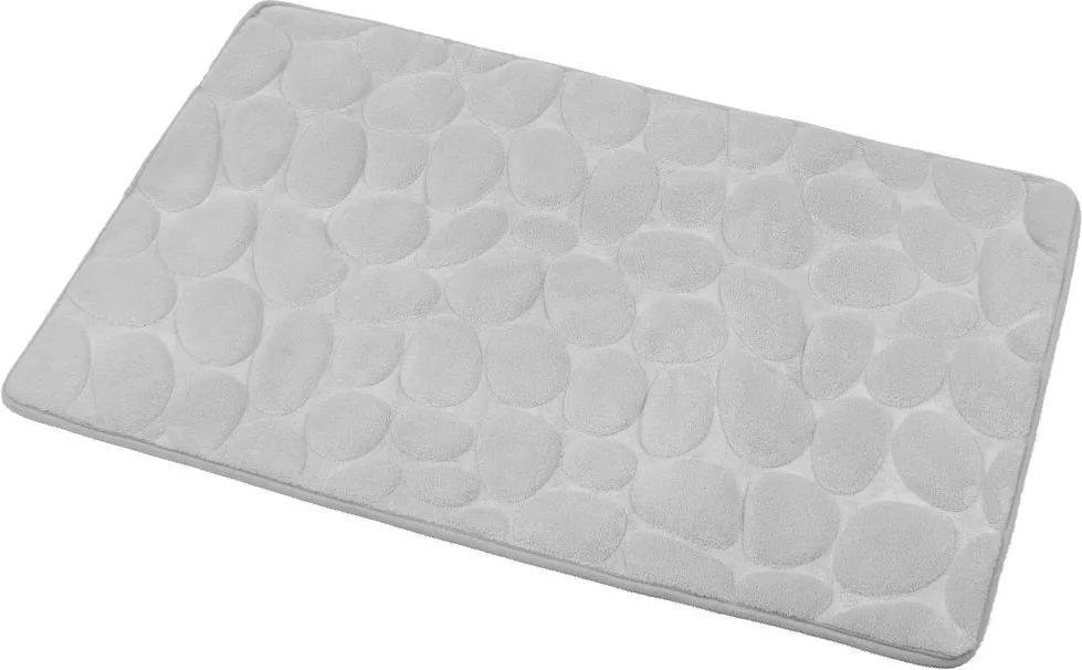 Aqualine KA1141 kúpeľňová predložka, 50x80cm, 100% mikrovlákno, protišmyk, šedá