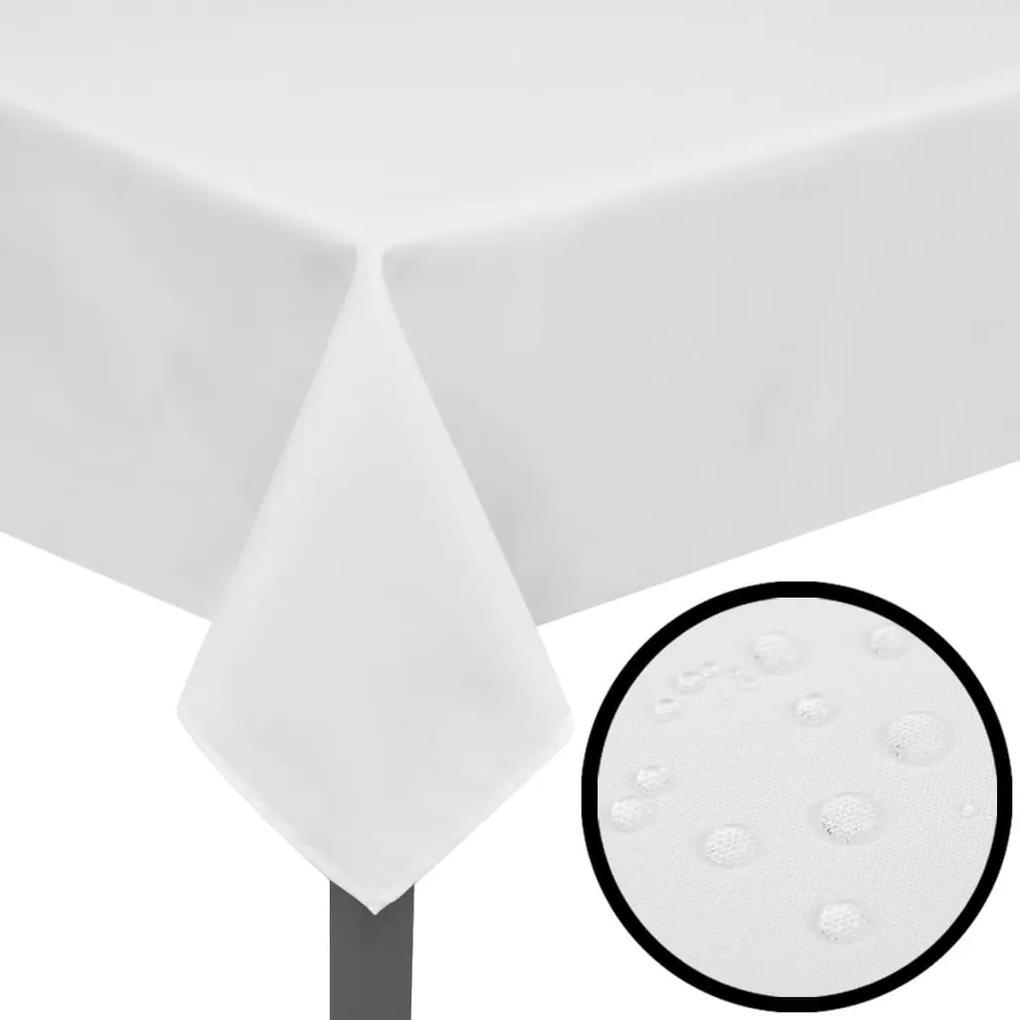 vidaXL Biele obrusy 250 x 130 cm  5 ks