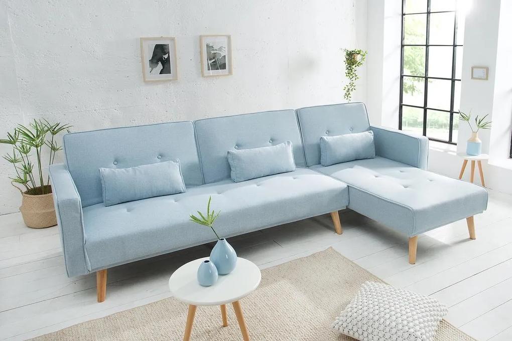 Rohová sedačka rozkladacia Norway - svetlo modrá