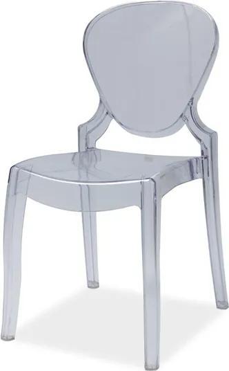 Najlacnejsinabytok ELMO plastová stolička, transparentná