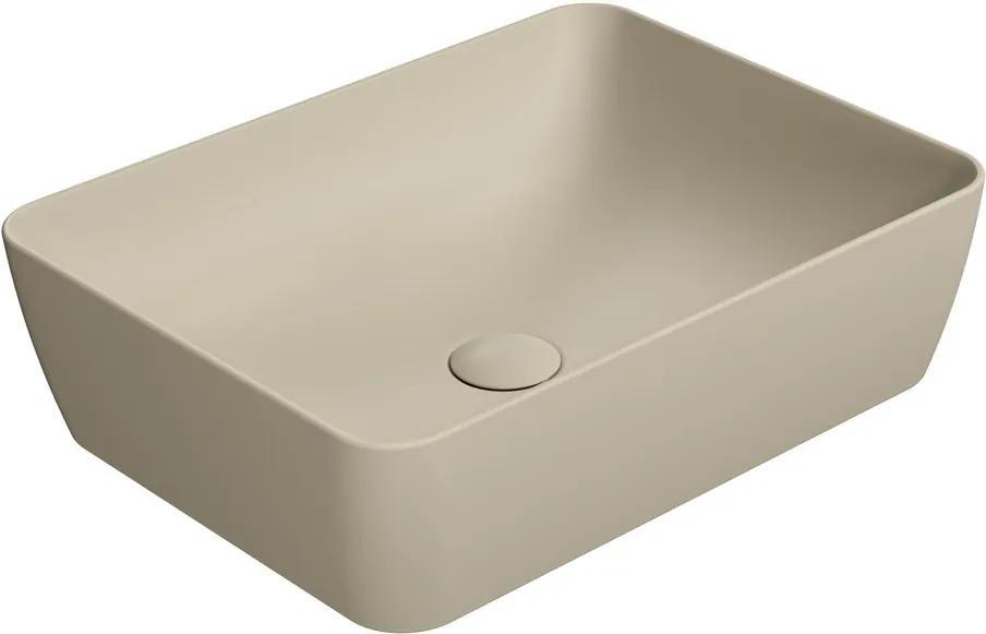 Sand 903708 umývadlo na dosku 50x38 cm, creta mat