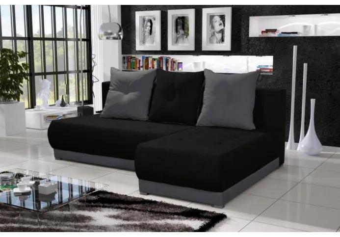 Elegantná sedacia súprava LEONARD, čierna + šedá