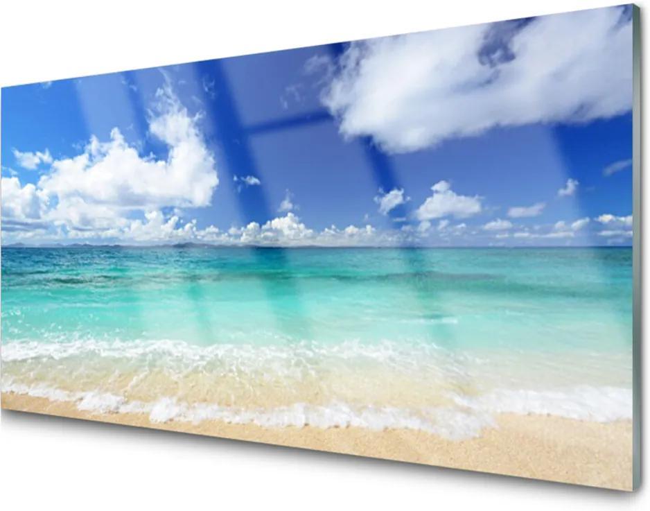 Sklenený obklad Do kuchyne More Pláž Príroda