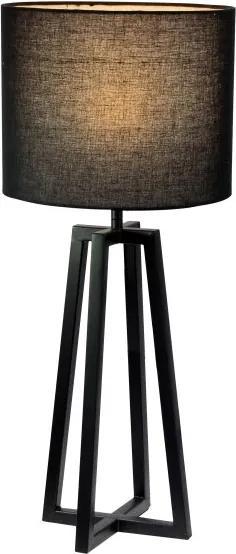 Stolná lampa, čierna, QENNY 15