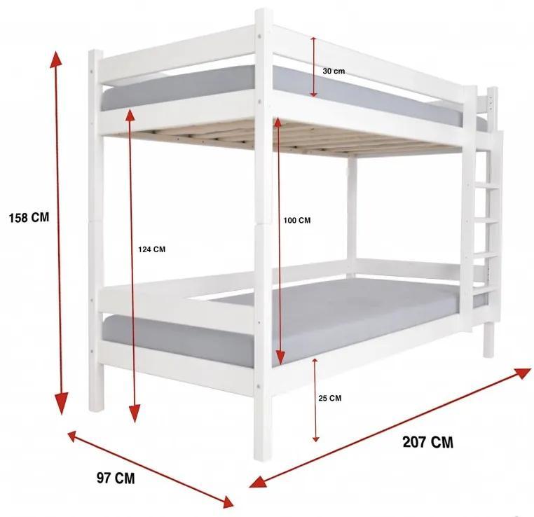 FA Najlacnejšia poschodová posteľ Paulína 200x90