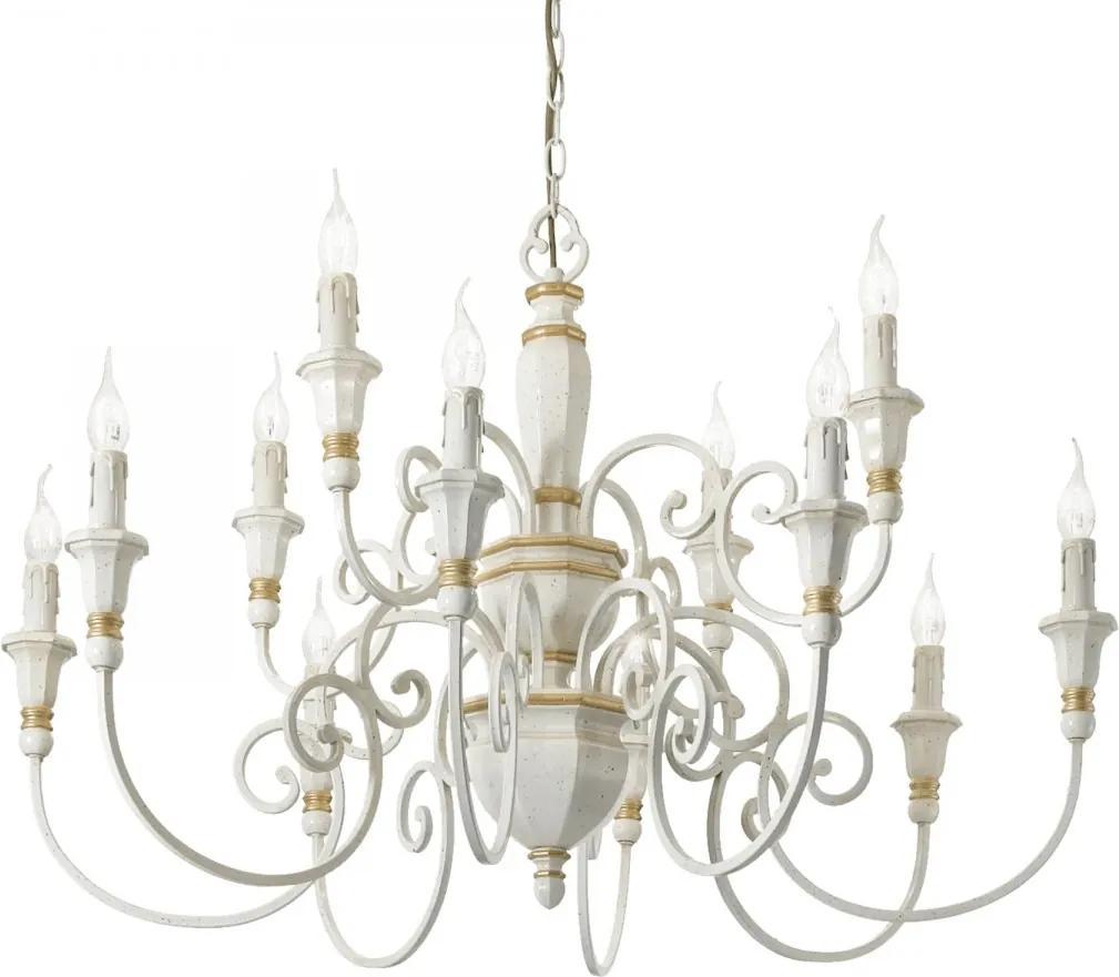 Ideal Lux 093789 luster Palio Bianco 12x40W | E14