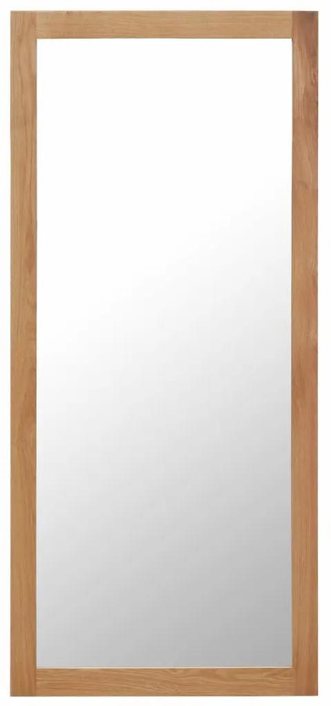 vidaXL Zrkadlo 50x140 cm, dubový masív