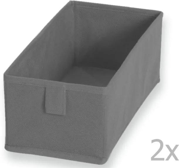 Sada 2 sivých te×tilných boxov JOCCA, 28 × 13 cm
