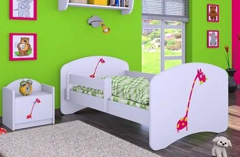 MAXMAX Dětská postel bez šuplíku 160x80cm ŽIRAFKA