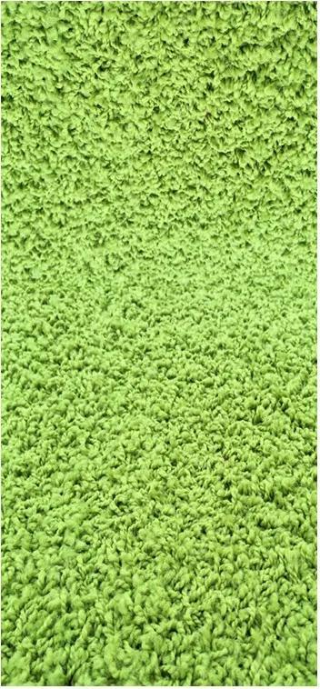 Vopi koberce Běhoun na míru Color Shaggy zelený - šíře 40 cm s obšitím