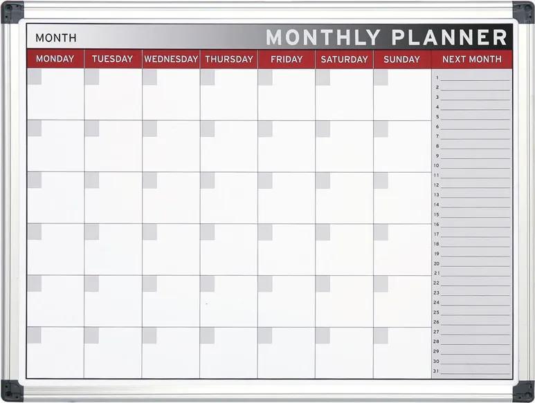 Bi-Office Mesačná plánovacia tabuľa