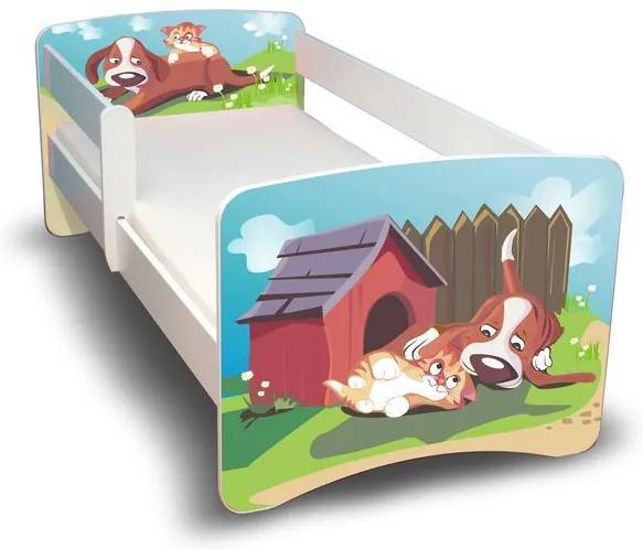 MAXMAX Detská posteľ 160x80 cm - PSÍK A MAČIČKA II 160x80 pre všetkých NIE