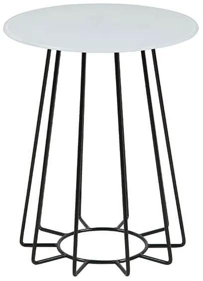Casia príručný stolík biela/čierna