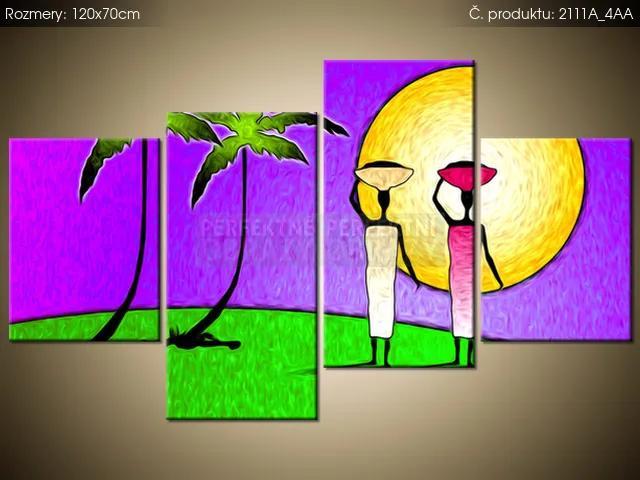 Tlačený obraz Slnečný ostrov s palmami 120x70cm 2111A_4AA