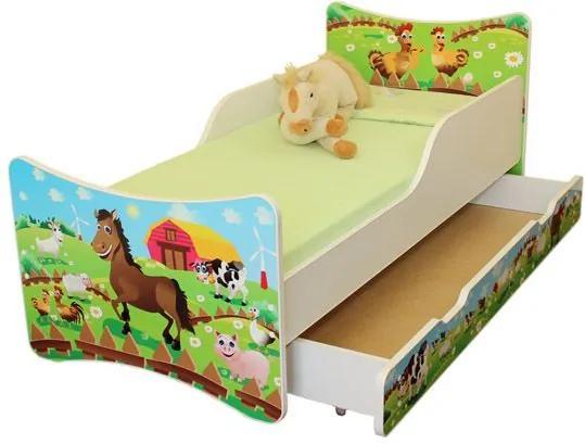 MAXMAX Detská posteľ so zásuvkou 160x80 cm - FARMA 160x80 pre všetkých ÁNO